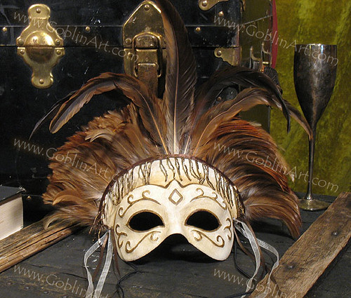 Ivory feather mask | by goblinart