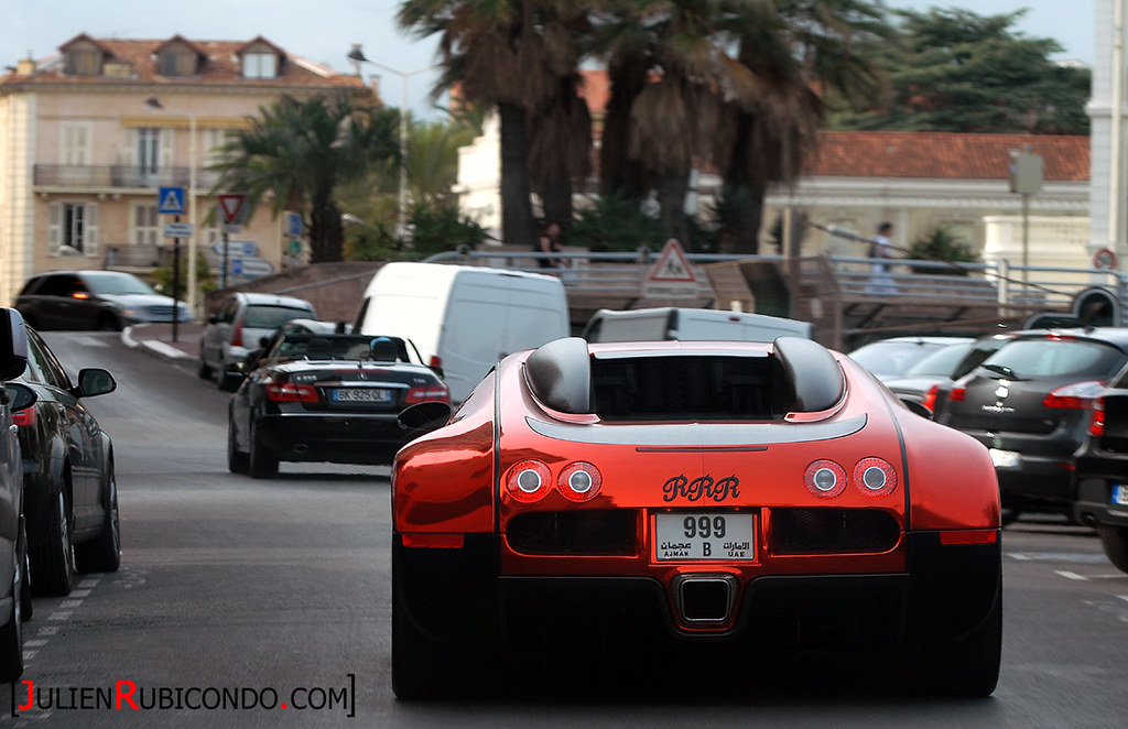 With The Craziest Bugatti Veyron Ever ! Driving In Cannes | By