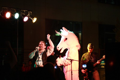 Yes, that's a unicorn ... signing karaoke ... so what?! | by kveton