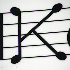 K - Musical note konditori | by Eva the Weaver