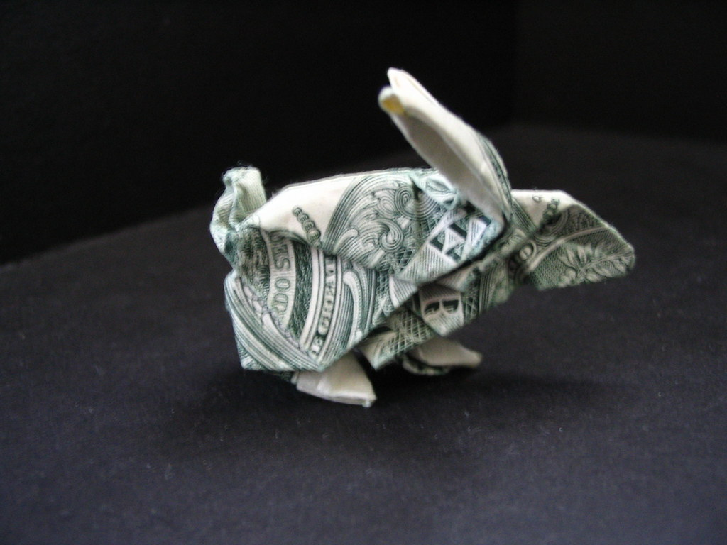 Origami Money Folding Instructions Cool Ideas - Dollar origami rabbit by morpheology dollar origami rabbit by morpheology