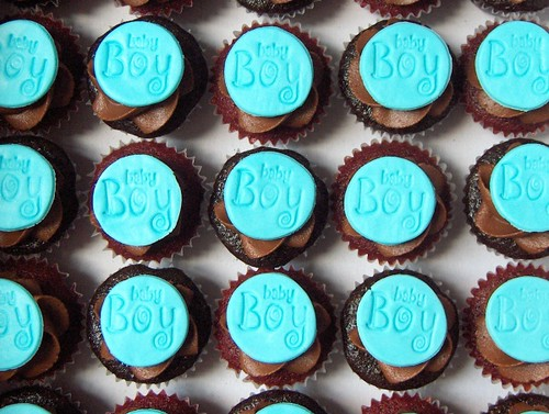 Baby Boy Mini Baby Shower Cupcakes Chocolate And Red Velve Flickr