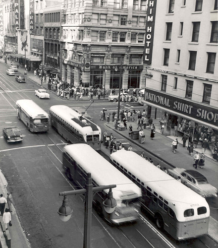 7th and Broadway. C. 1956 (after 1955 abandonment)  Looking NE | by Metro Transportation Library and Archive