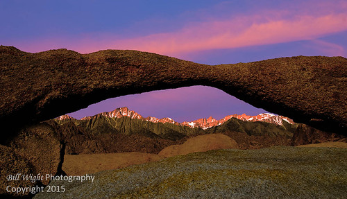 Lathe Arch and Alpenglow Alabama Hills | by Bill Wight CA