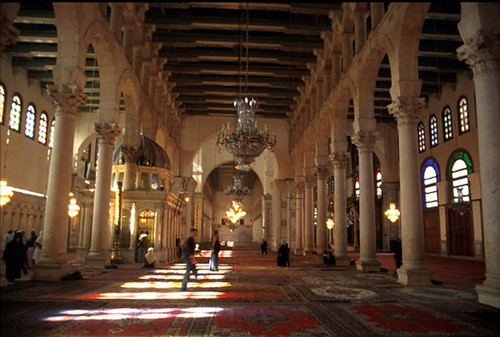 hypostyle hall of the mosque of the umayyad damascus flickr