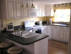 Wide Island Kitchen