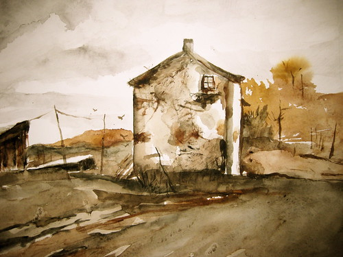 Farm House (photo of watercolor) | by nkimadams