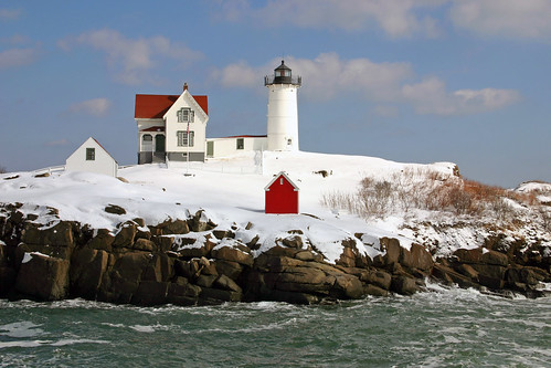 Nubble Light in the snow | by nelights