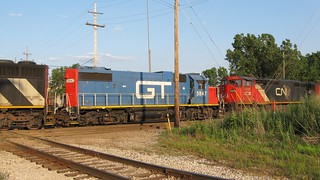 Southbound Canadian National Railroad transfer train. Hawthorne Junction. Chicago / Cicero Illinois. June 2008. | by Eddie from Chicago