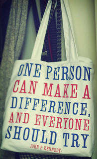 ONE PERSON CAN MAKE A DIFFERENCE, AND EVERYONE SHOULD TRY. | by ginnerobot