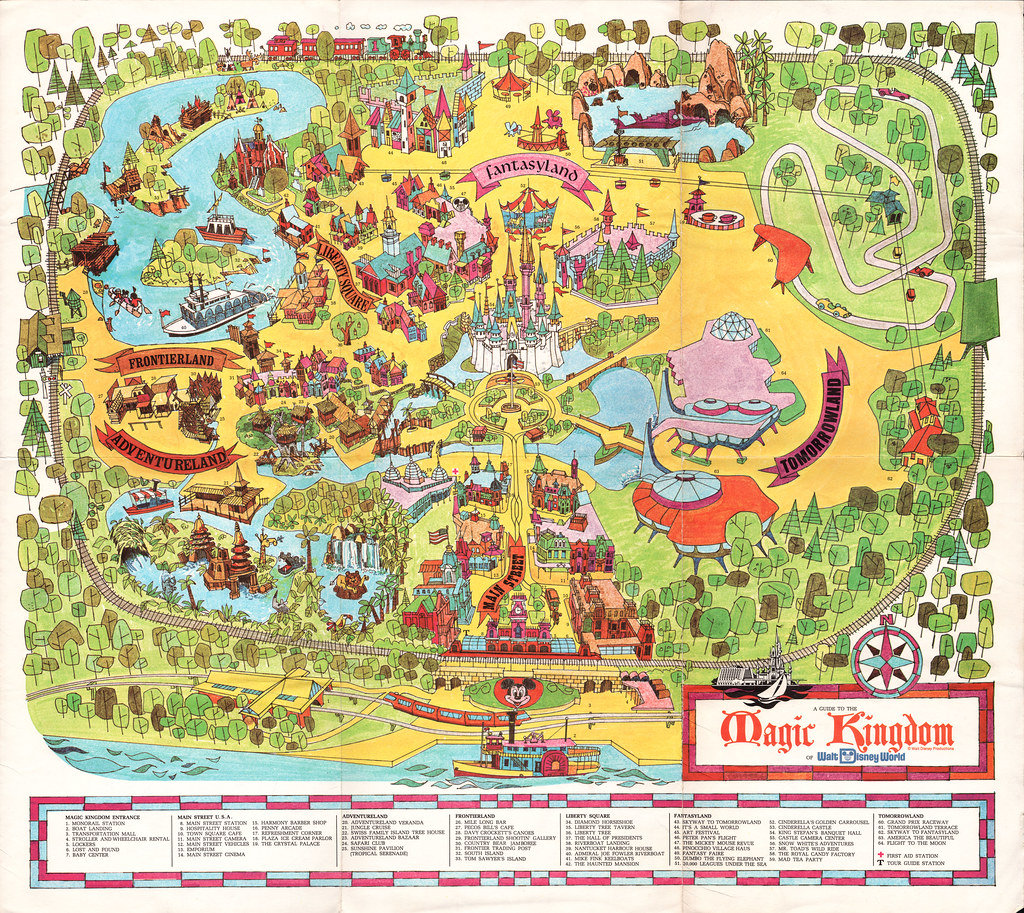 Disney World Florida Map.Walt Disney World Souvenir Park Map Orlando Florida 19 Flickr