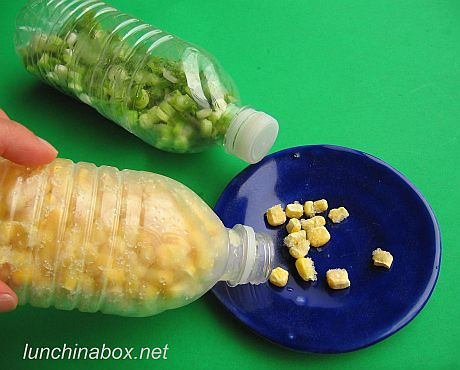Frozen corn in plastic water bottle | by Biggie*