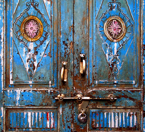 the door with eyes .... the face of monster | by Rino Alessandrini