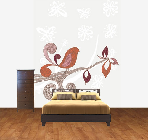 Little Brown Bird ~ Murals your way | by valentinadesign