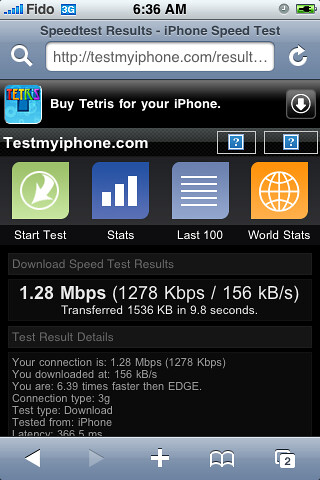 speed test iphone 3g speed test on the iphone 3g speed test on fido not 5267