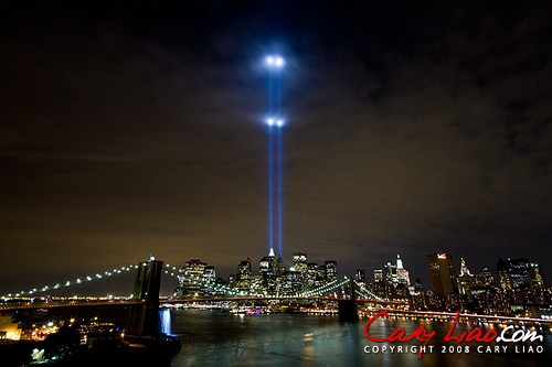 ... World Trade Center Tribute In Light 2008 | By Cary Liao