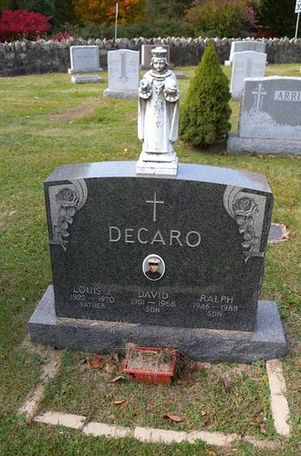 Cold Spring Ny Cemetery Decaro Family Marker Louis J