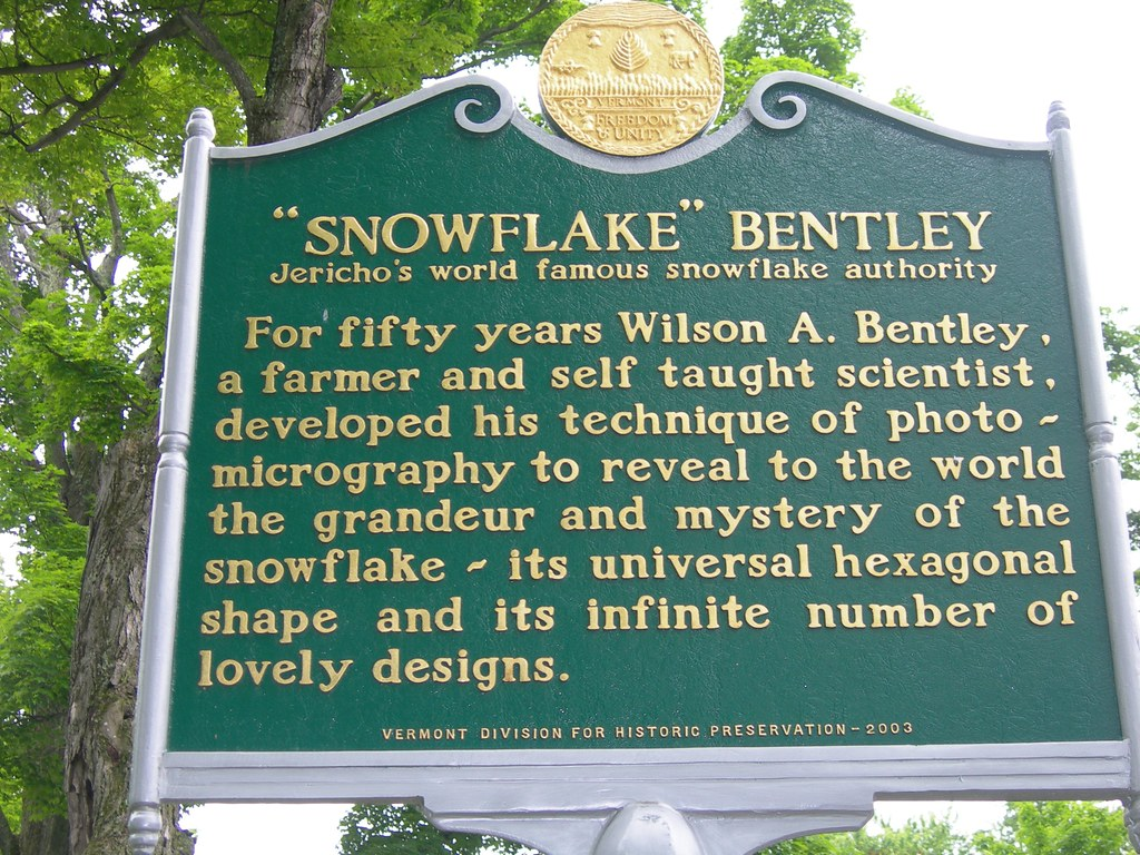 snowflake bentley historic marker located in the town gree flickr