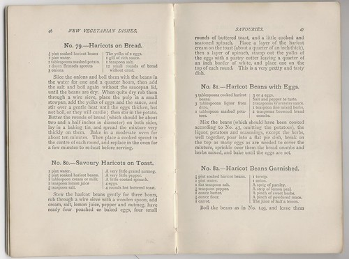 Mrs Bowden New Vegetarian Dishes 1917 : beans on toast - 1903 style | by Vegefoodie