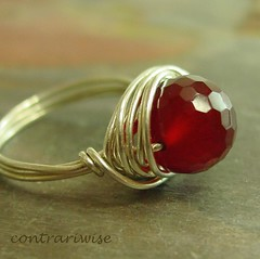 Pomegranite Ring | by ContrariwiseJewelry