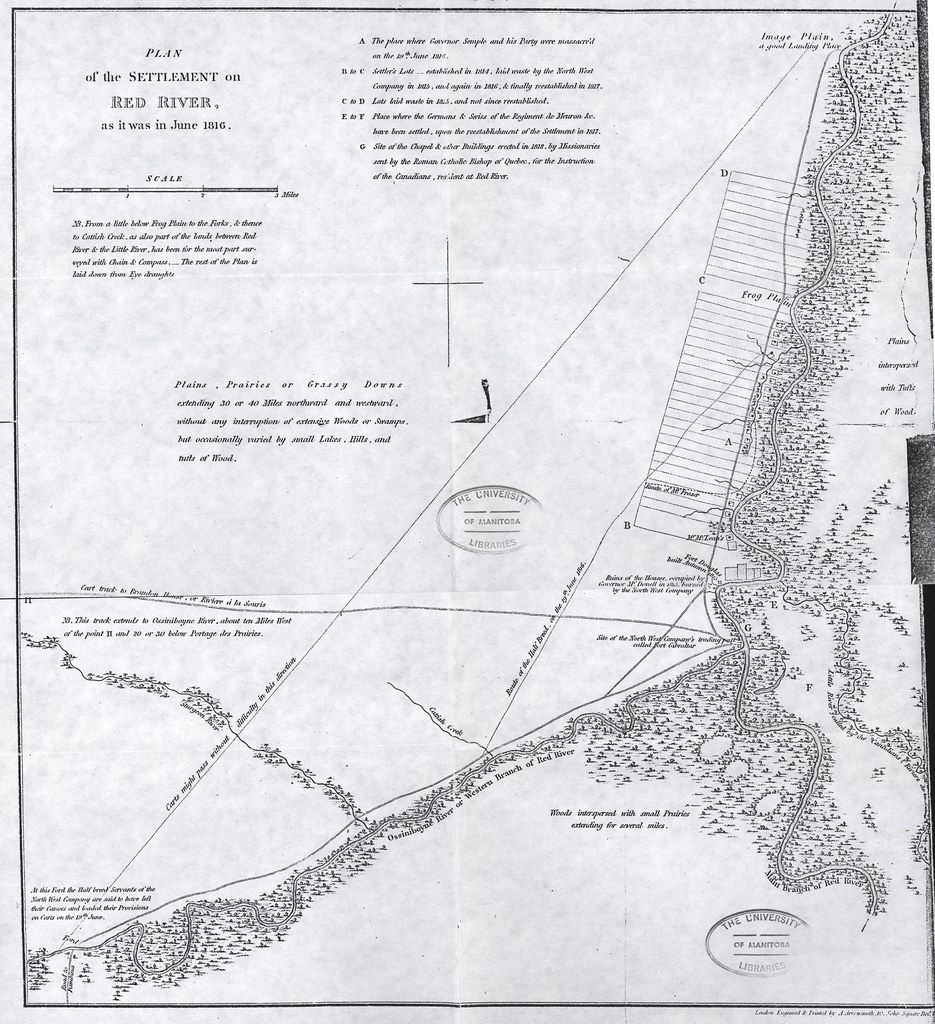 ... Plan of the Settlement on Red River as it was June 1816 (1820) |