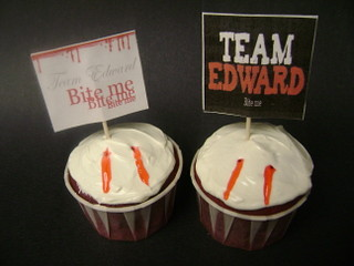 Team Edward Twilight Cupcakes | by iheartcuppycakes1