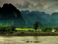 Crossing the Nam Song river | by B℮n