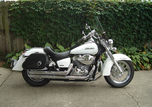 2007 - Pearl White Honda Shadow 750 Aero by CheesyRyder | Flickr