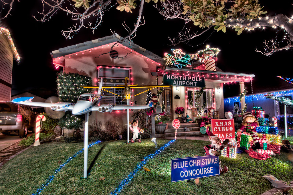 Candy Cane Lane Decorations Simple Candy Cane Lane  House Decorated As The North Pole Airport …  Flickr Design Ideas