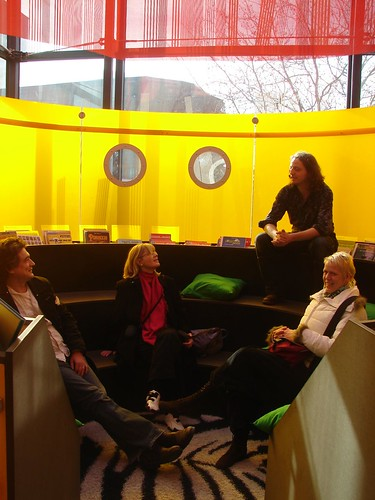 the grahpic novels room where kids can just hang out | by The Shifted Librarian