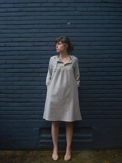 Carpenter Dress in Gray Cotton | by shaybelle!