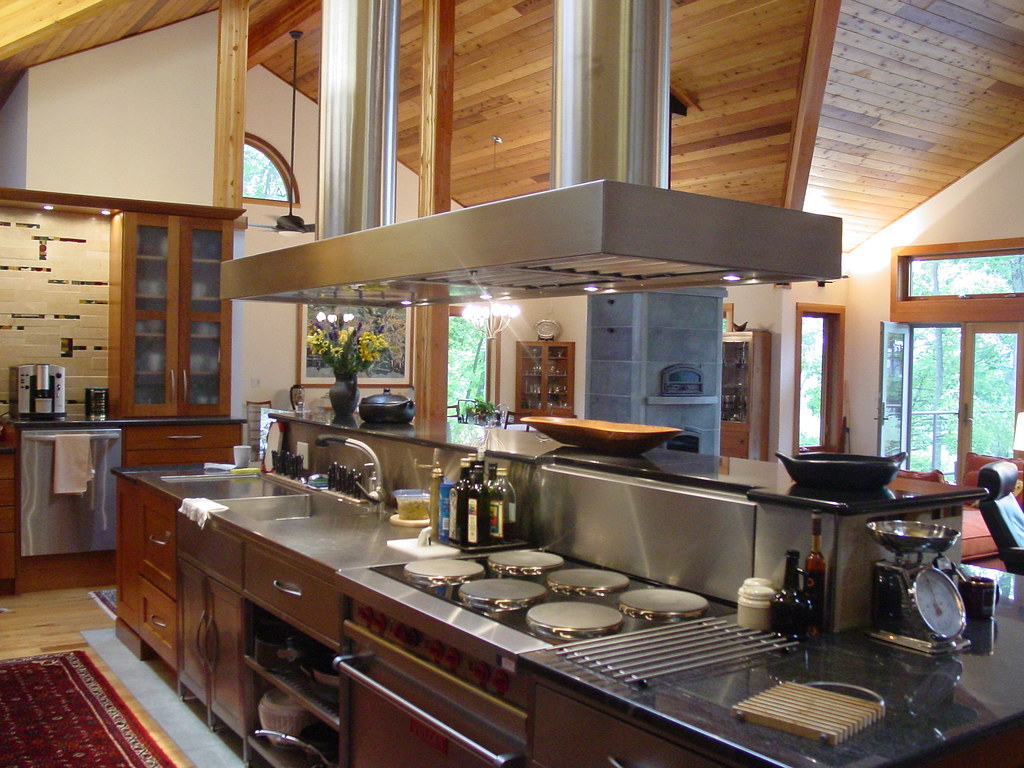 38590 custom craftsman lindal cedar home with professional kitchen by lindal cedar homes - Professional Kitchen