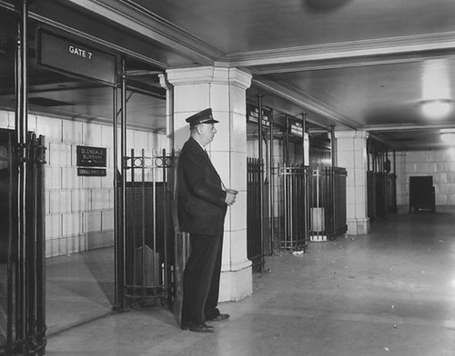 Hollywood Subway Terminal platform level 1946 | by army.arch
