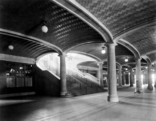 Lobby stairs to waiting room and concourses, Chicago & North Western Railway, Chicago, Illinois, ca. 1912 | by trialsanderrors