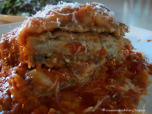 Mama's Eggplant Parmesan w/ Sausage | by CinnamonKitchn