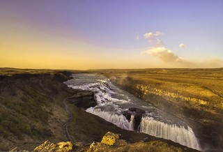 Gulfoss in the evening light(11 pm).Iceland | by StephanieB.