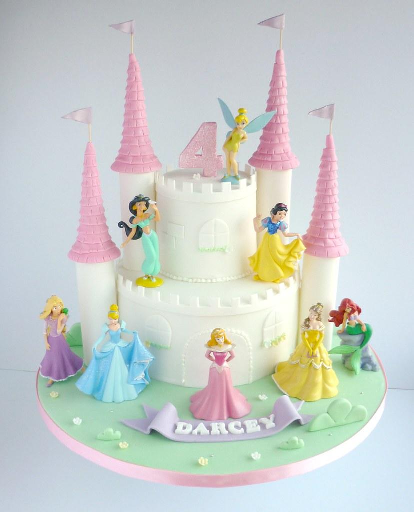 Disney Princesses Castle Birthday Cake Swirlsbakery Flickr