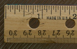 "Ruler - Wooden; Why no ""Inches"" label? 