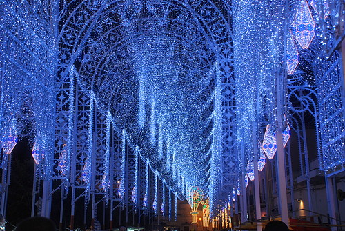 In blu luminarie di santa domenica scorrano for Luminarie puglia