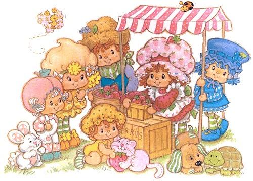 Charlotte aux fraises et ses amis au march cr pe - Charlotte aux fraises et ses copines ...