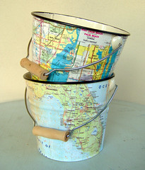 Florida Map Pail | by CarolinaCottage