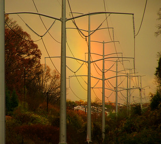 Rainbow and power lines | by Kathleen Tyler Conklin