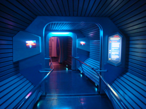 Inside Space Mountain - Disneyland | One part of the queue