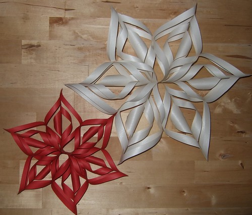 White Paper Snowflake Decorations