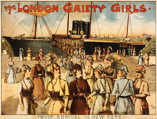 The London gaiety girls: their arrival in New York, performing arts poster, 1891 | by trialsanderrors