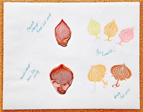 Stamp carving process organic floral motifs i drew