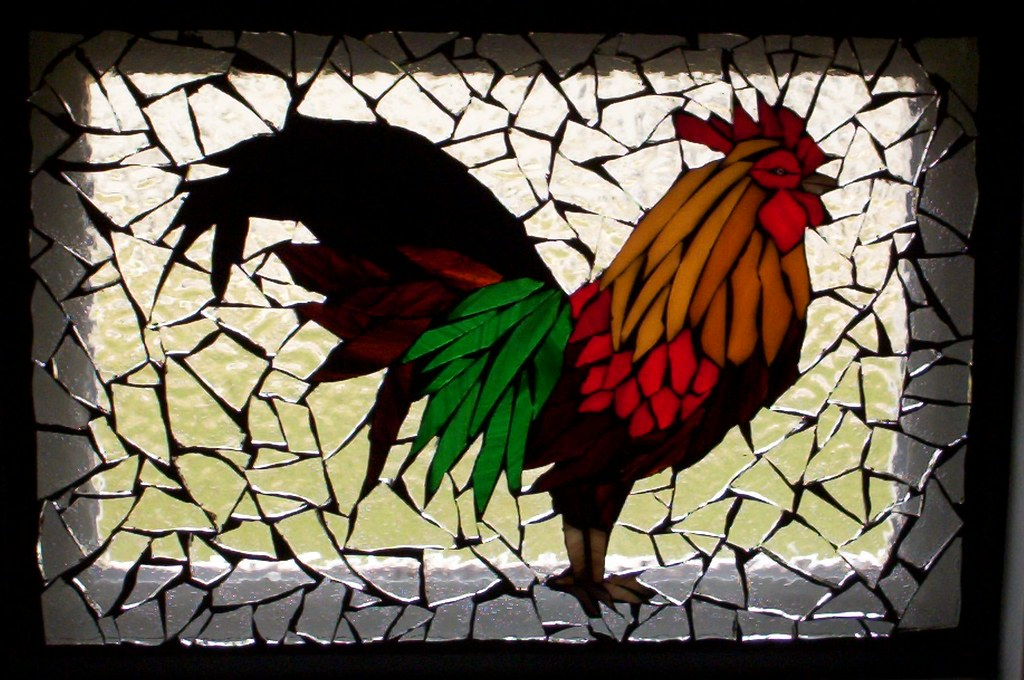 ... Kitchen Porthole Rooster | By Mosaics By Marlene