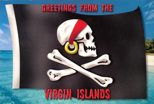 Caribbean - Pirate Flag, Virgin Islands | by 9teen87's Postcards