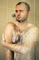 Hairy men shower