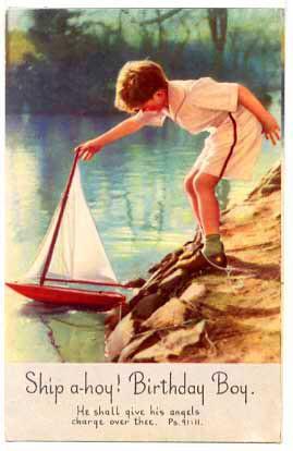 birthday card boy with sailboat oldsailro flickr